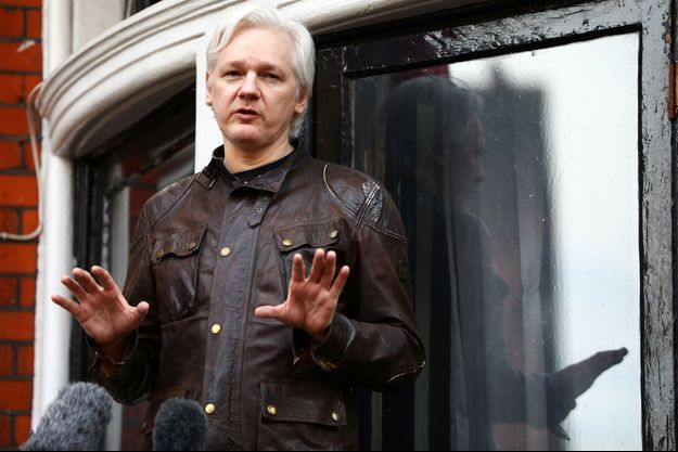 Julian Assange à Londres en mai 2017.