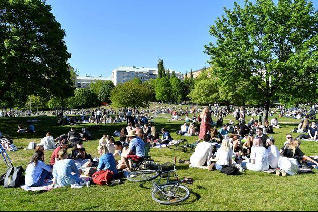 Un parc à Stockholm, le 30 mai.