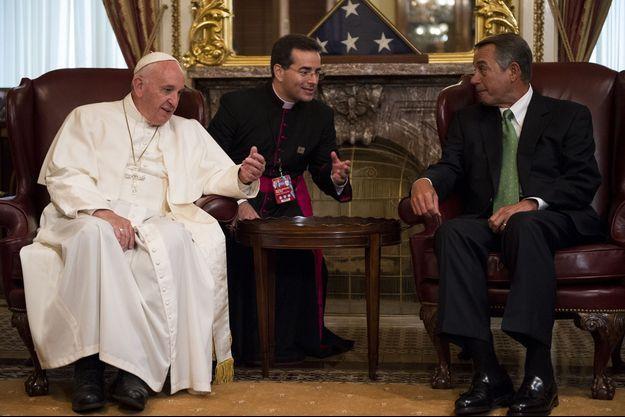 John Boehner et le pape François lors de leur rencontre à Washington, le 24 septembre.