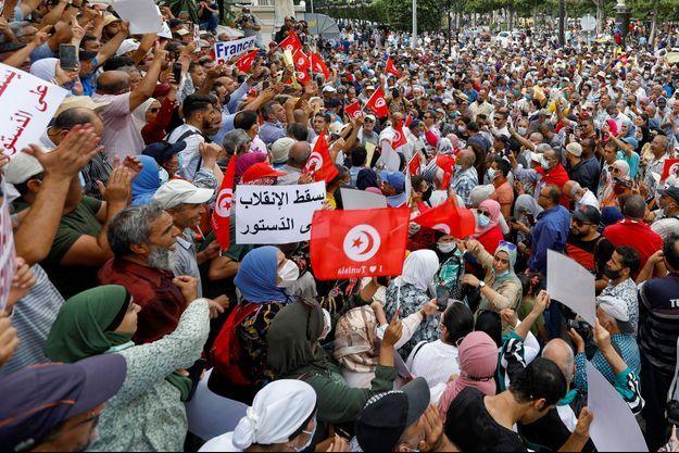Les manifestations en Tunisie.