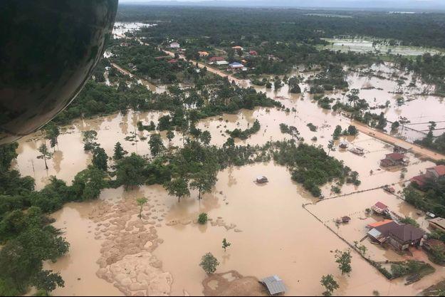 Le bilan des disparus est hélas très provisoire. Photo prise dans la province d'Attapeu au Laos.