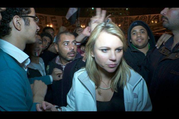 Lara Logan, quelques instants avant son agression place Tahrir.
