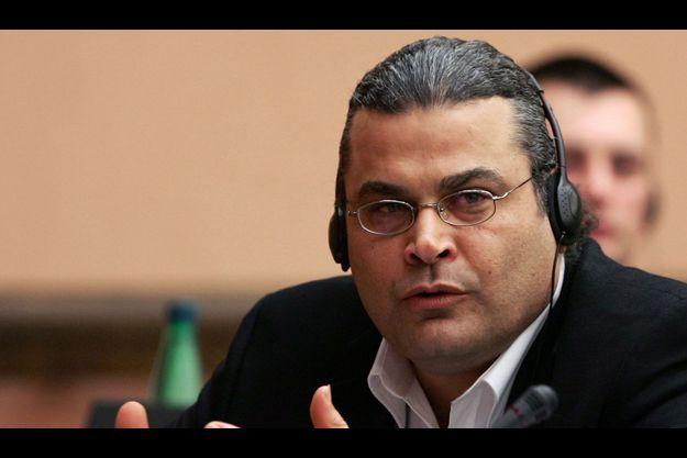 Khaled el-Masri devant le Parlement Européen.