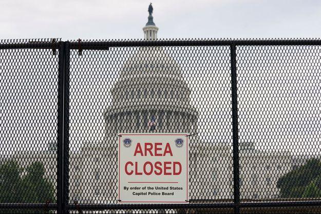 Les grillages protégeant le Capitole, en juillet 2021.