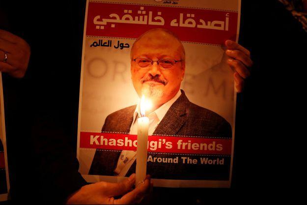 Manifestation de protestation contre le meurtre de Jamal Khashoggi à Istanbul.