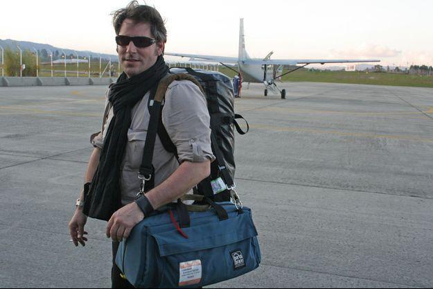 Stéphan Villeneuve en reportage en Colombie en 2008.