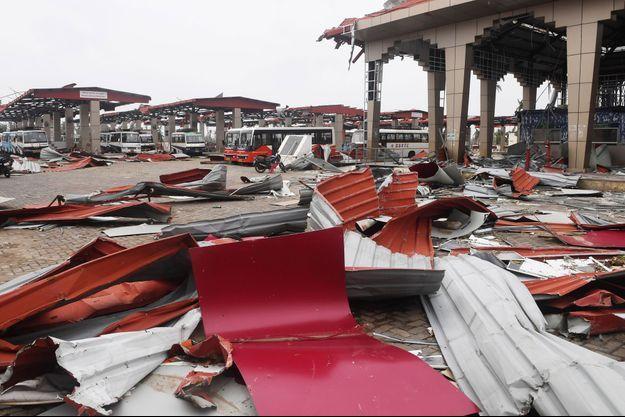 Puri en Inde, après le passage du cyclone Fani, le 5 mai 2019.