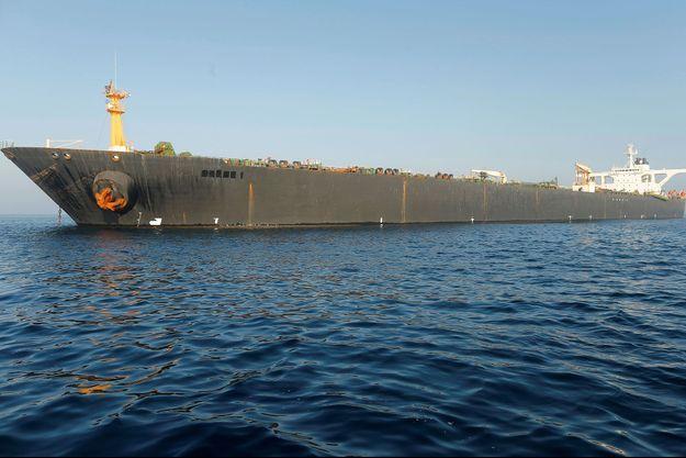 Le pétrolier iranien immobilisé depuis début juillet.