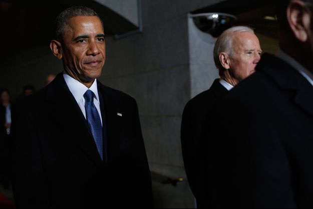 Barack Obama à Washington, le 20 janvier 2017.