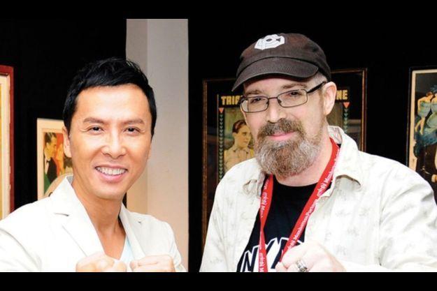 Dan Craft, à droite, et un de ses amis du NYAFF, sur une photo postée sur la page Facebook officielle du festival.