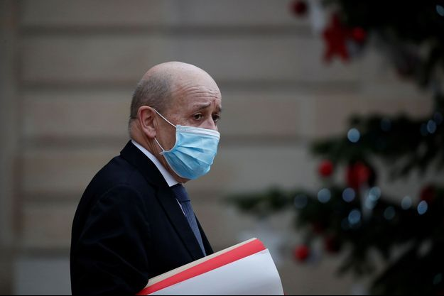 Jean-Yves Le Drian à l'Elysée le 6 janvier.
