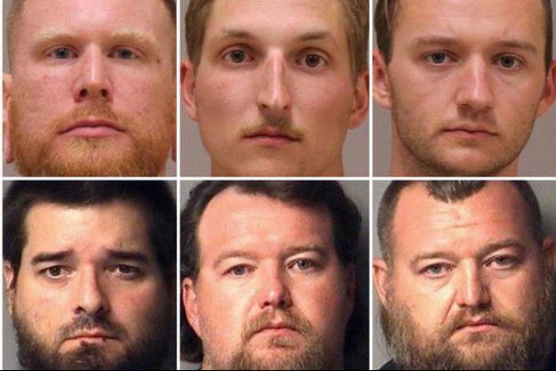 Six des treize hommes impliqués dans le complot.