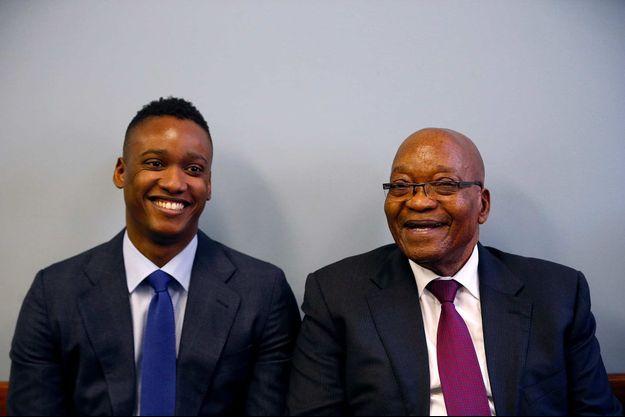 Duduzane et Jacob Zuma, en janvier 2019.