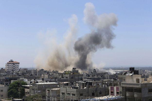 Frappe israélienne sur Gaza, vendredi.
