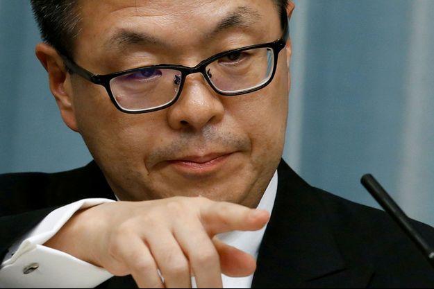 Le ministre nippon du Commerce et de l'Industrie, Hiroshige Seko.