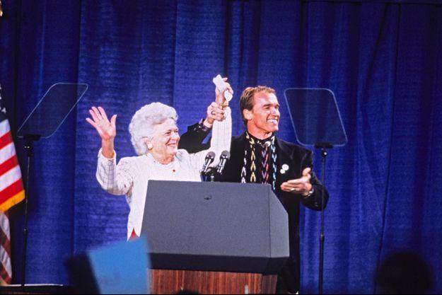 Barbara Bush, Arnold Schwarzenegger