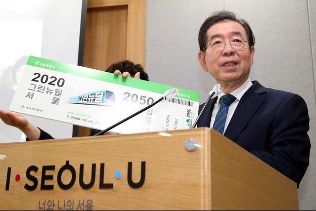 Le maire de Séoul Park Won-soon, le 8 juillet 2020.