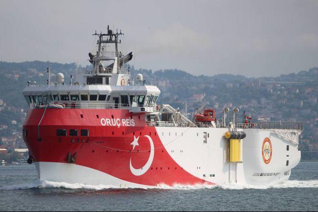 Le navire de recherche sismique turc Oruc Reis, en octobre 2018.