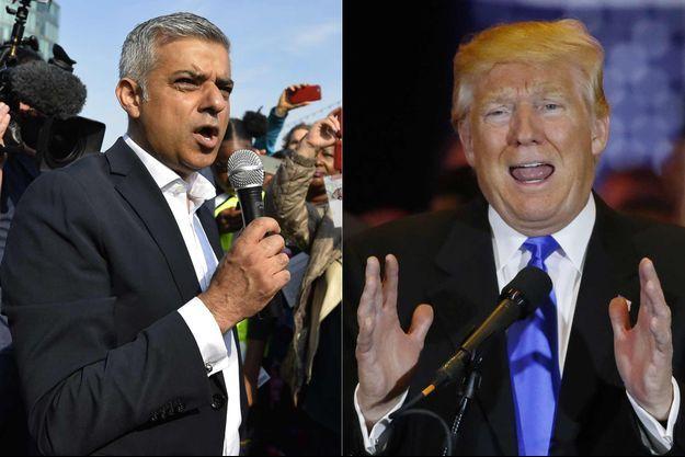 Sadiq Khan et Donlad Trump.
