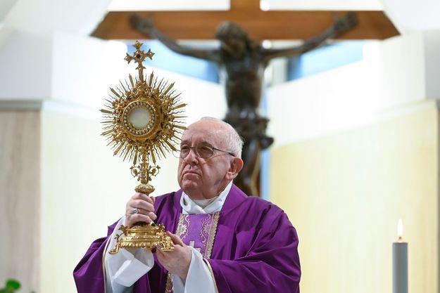 Le pape, le 26 mars 2020 au Vatican.