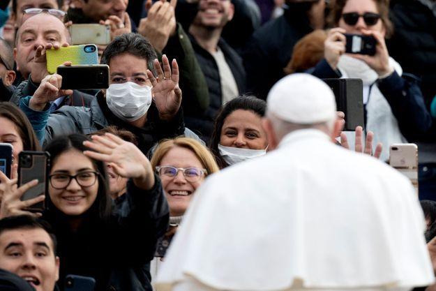 Le pape François au Vatican, le 26 février 2020.