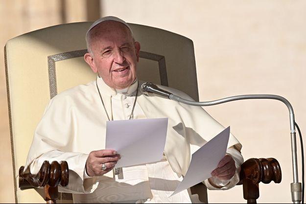 Le pape François, le 23 octobre 2019.