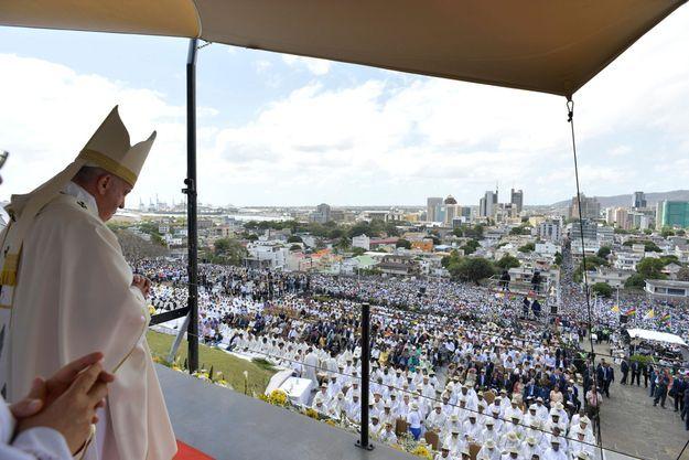 Le pape François à Port-Louis, capitale de l'Ile Maurice.