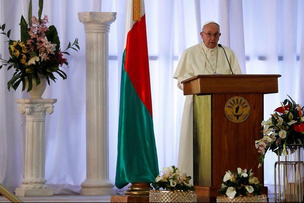 Le pape François à Madagascar, le 7 septembre 2019.