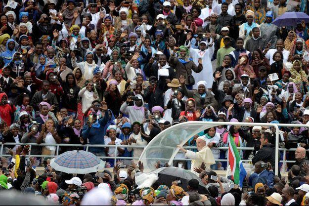 Le pape François à Maputo au Mozambique.