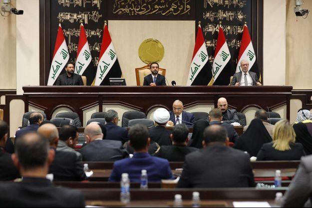 Au Parlement irakien, dimanche, à Bagdad.