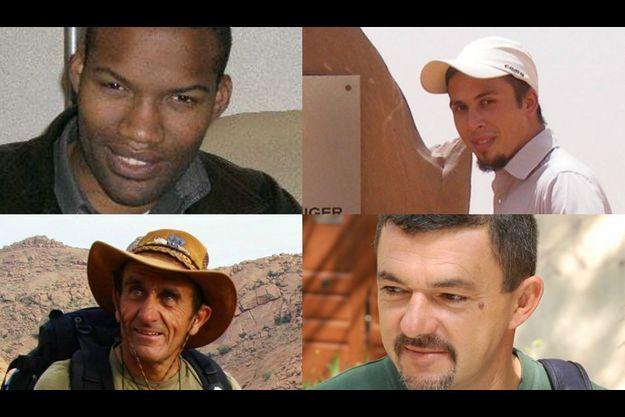 Thierry Dol (en haut, à g.), Pierre Legrand (en haut, à dr.), Daniel Larribe (en bas, à g.), Marc Féret (en bas, à dr.)