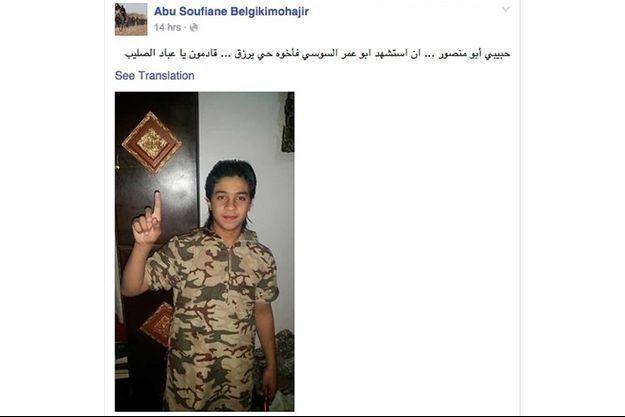 Younès Abaaoud sur la photo de l'homme qui s'est exprimé en son nom.