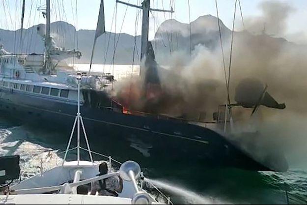 Un incendie s'est déclaré à bord du Phocéa.
