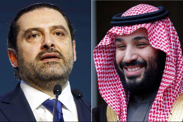 Le Premier ministre libanais Saad Hariri et le prince héritier saoudien Mohammed ben Salmane.