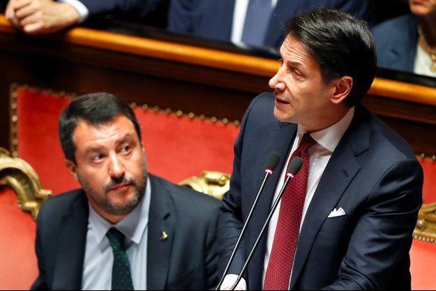 Matteo Salvini, Giuseppe Conte