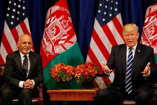 Ashraf Ghani, Donald Trump