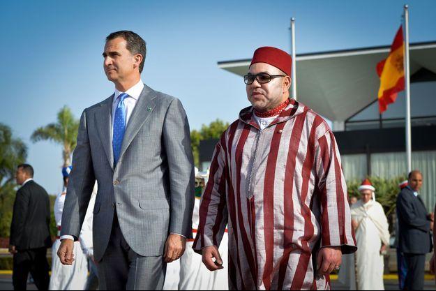 Felipe VI et Mohammed VI en juillet dernier à Rabat.