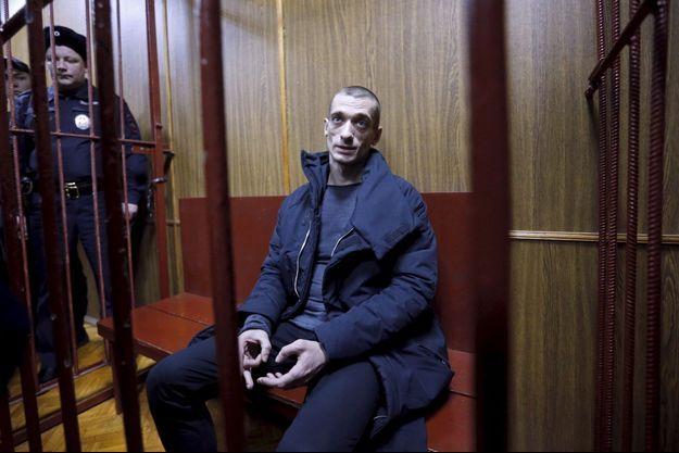 Piotr Pavlensky au tribunal de Moscou, le 26 février dernier.