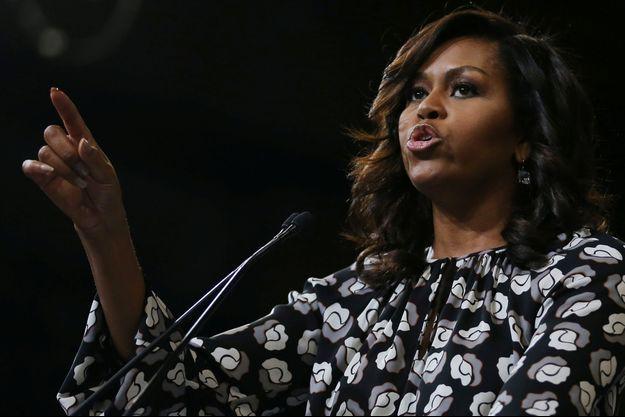 Michelle Obama lors d'un meeting à Winston-Salem, en octobre 2016.