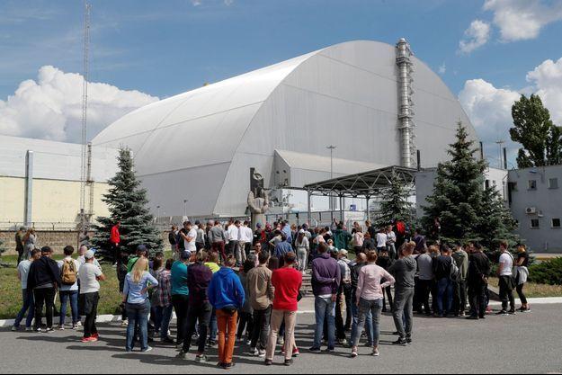 Des touristes à Tchernobyl.