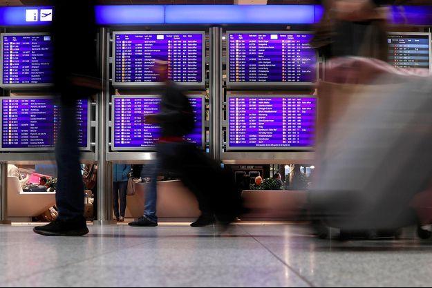 A l'aéroport de Francfort, en janvier 2019.
