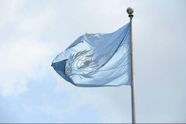 Drapeau de l'ONU.