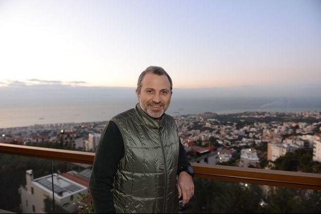 Le ministre des Affaires étrangères libanais Gebran Bassil à son domicile, le lundi 6 janvier après-midi.