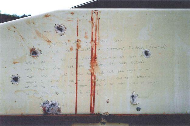 La note photographiée a été diffusée et lue au jury.