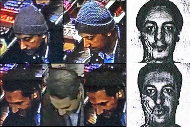 Les deux hommes que la police belge soupçonne d'être les coordinateurs des attentats de Paris.