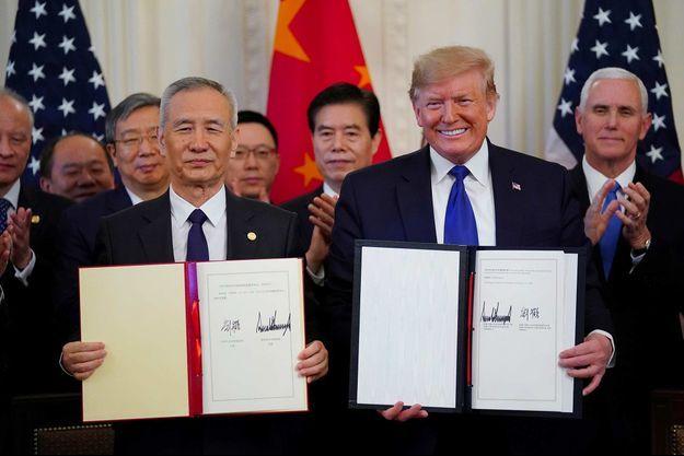 Liu He, Donald Trump