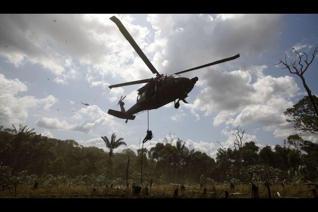 Le 25 janvier dernier, les forces anti-drogues mènent une opération contre des laboratoires appartenant au Farc, dans le centre de la Colombie.