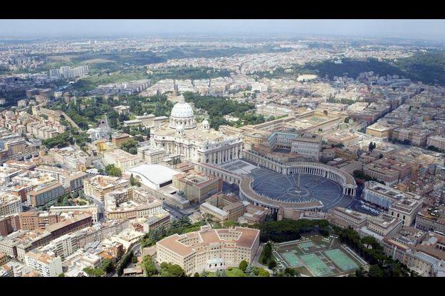 Vue aérienne du Vatican, à Rome.