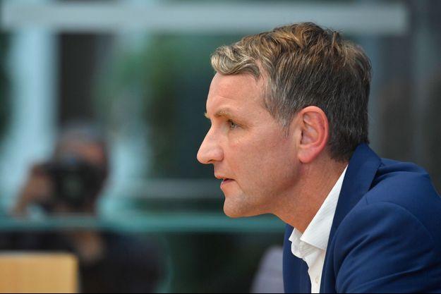 Björn Höcke, le représentant de l'aile la plus radicale du mouvement anti-migrants, à Berlin le 28 octobre 2019.