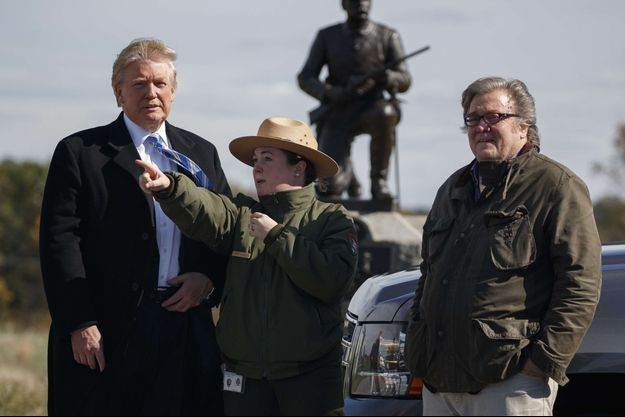 Donald Trump et Steve Bannon au Gettysburg National Military Park, en octobre 2016.